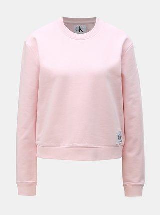 Svetloružová dámska mikina Calvin Klein Jeans