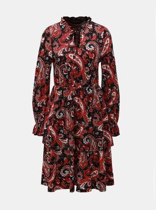 8d49658dfe32 Červeno–čierne vzorované šaty Dorothy Perkins