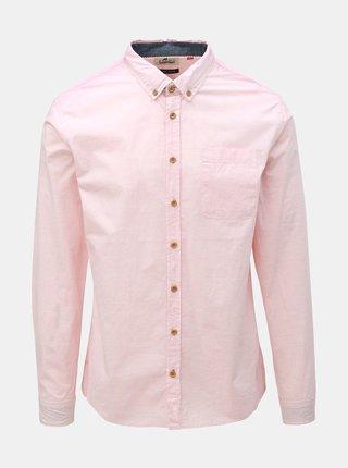 Svetloružová košeľa s vreckom Blend