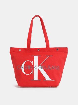 Červený shopper Calvin Klein Jeans