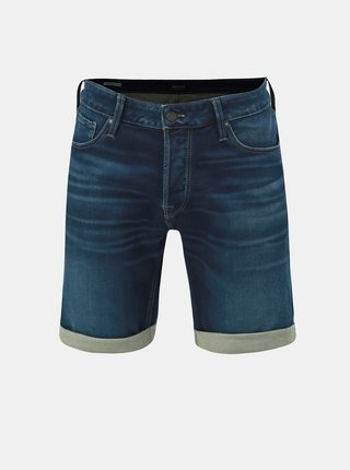 Pantaloni scurti albastru inchis din denim Jack & Jones Rick Jicon