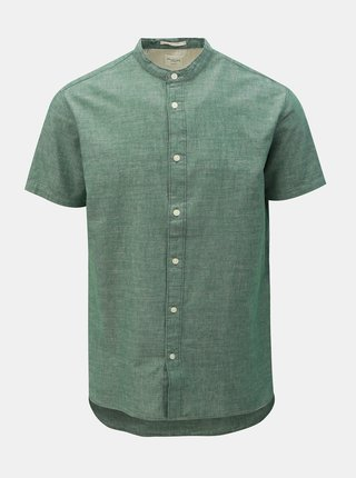 Camasa verde melanj slim fit Selected Homme Nolan
