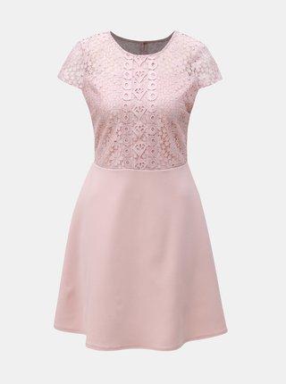 Rochie roz cu dantela Dorothy Perkins