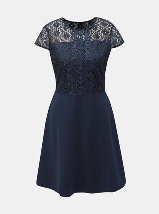 Rochie albastru inchis cu dantela Dorothy Perkins