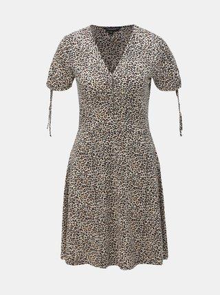 Svetlohnedé šaty s leopardím vzorom Dorothy Perkins