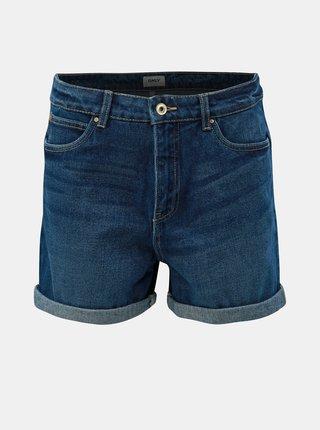 Pantaloni scurti albastru inchis din denim cu talie inalta ONLY Lola