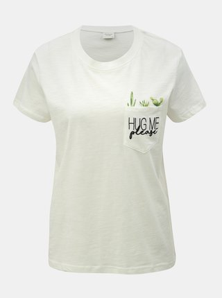 Bílé tričko s kapsou Jacqueline de Yong Kid