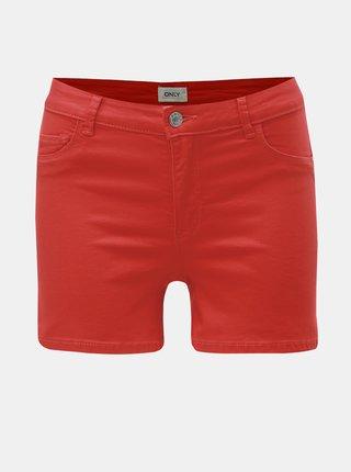 Pantaloni scurti rosii din denim ONLY Rain