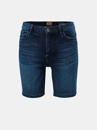 Pantaloni scurti albastru inchis skinny din denim ONLY Corin