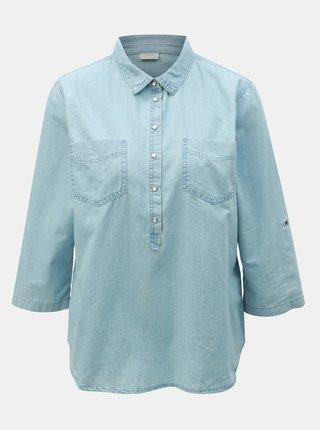 4ae112ae40c5 Modrá rifľová košeľa Jacqueline de Yong Shinest