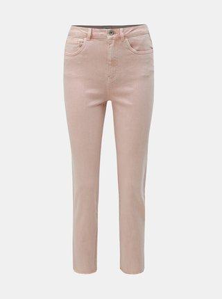 Blugi roz prafuit straight fit cu terminatii nefinisate ONLY Emily