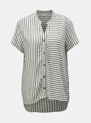 Bluza alb-gri in dungi Jacqueline de Yong Karla