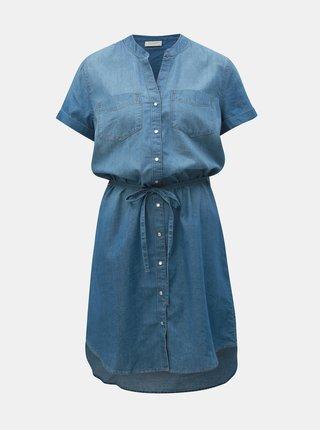 Modré rifľové košeľové šaty Jacqueline de Yong Shinest