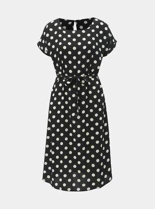 Černé puntíkované šaty Jacqueline de Yong Star