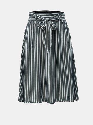 Tmavě modrá pruhovaná sukně ONLY Manhattan