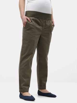 Khaki těhotenské kalhoty Dorothy Perkins Maternity