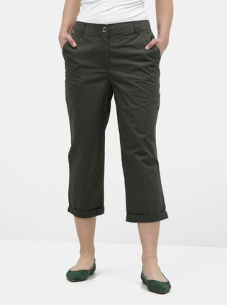 Pantaloni verde inchis pana la glezne Dorothy Perkins