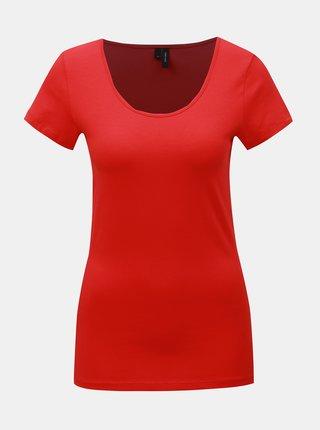 Červené basic tričko VERO MODA Maxi