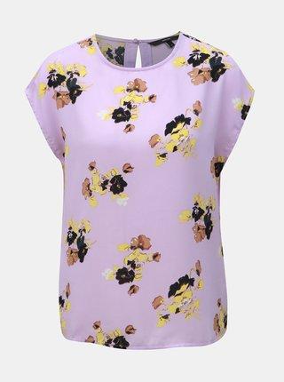 Bluza mov deschis florala lejera VERO MODA Kaya