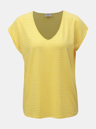 Tricou basic galben in dungi VERO MODA AWARE Ava