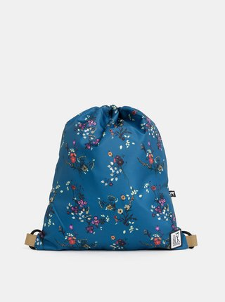 Sac de dama petrol floral impermeabil The Pack Society