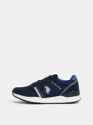 Pantofi sport barbatesti albastru inchis din piele intoarsa U.S. Polo Assn.