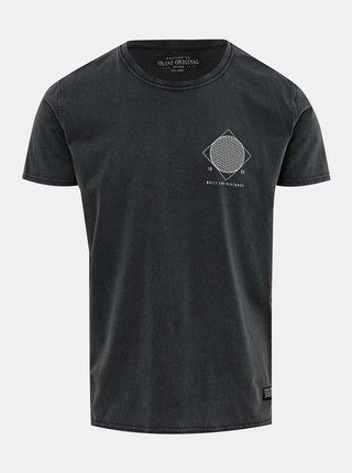Tricou gri inchis cu imprimeu Shine Original