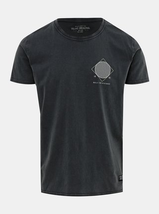 Tmavě šedé tričko s potiskem Shine Original