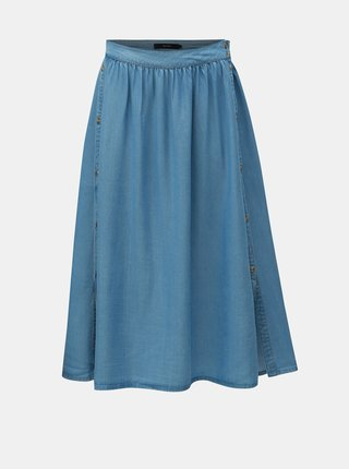 Modrá midi sukně s knoflíky VERO MODA Mia