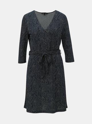Tmavomodré bodkované šaty VERO MODA Tia