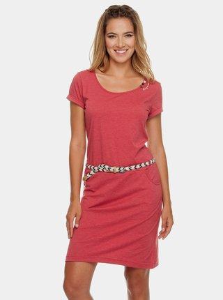 Červené šaty s páskem Ragwear Montana