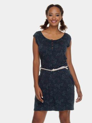 Rochie albastru inchis cu model si cordon Ragwear Zephire