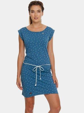Modré vzorované šaty s páskem Ragwear Tamy