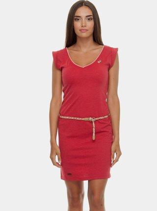 Červené šaty s páskem Ragwear Slavka