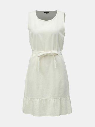 302da035603b Krémové ľanové šaty VERO MODA Anna