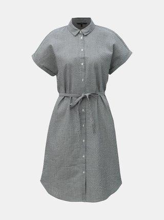 Modré pruhované košilové šaty VERO MODA Jane