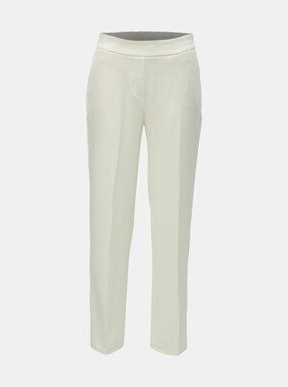 Krémové kostýmové nohavice s vysokým pásom VERO MODA AWARE Gemma