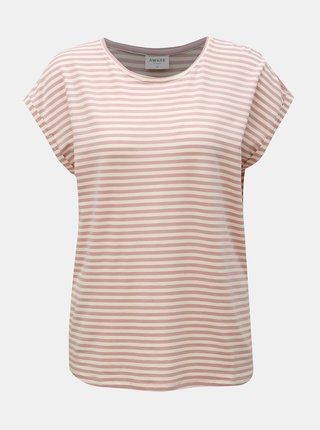 Tricou basic roz prafuit in dungi VERO MODA AWARE Ava