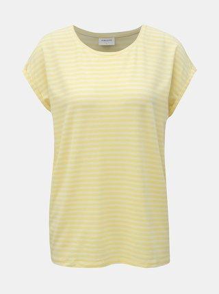 Žlté pruhované basic tričko VERO MODA AWARE Ava