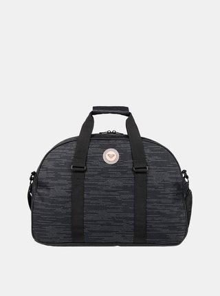 Čierna melírovaná športová taška Roxy Feel Happy