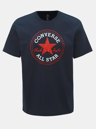 Tmavě modré pánské tričko s potiskem Converse