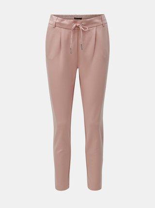 Pantaloni roz deschis cu talie inalta ONLY Poptrash