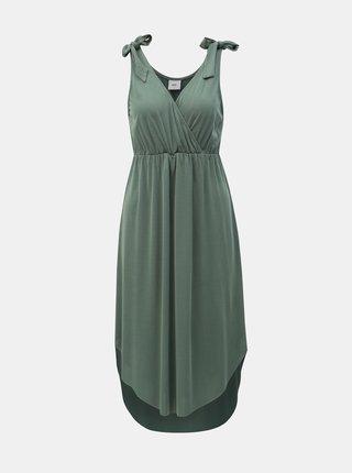 Rochie verde pentru femei insarcinate si alaptat Mama.licious