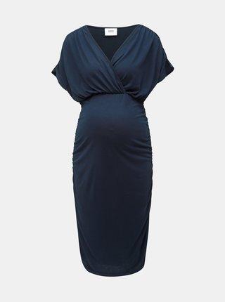 Rochie albastru inchis pentru femei insarcinate si alaptat Mama.licious