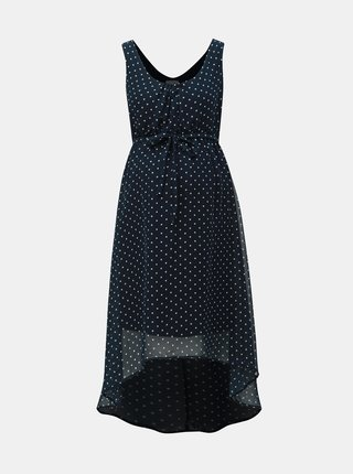 Rochie albastru inchis cu buline pentru femei insarcinate Mama.licious