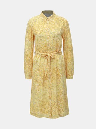 Rochie tip camasa galbena cu model VILA Osaly