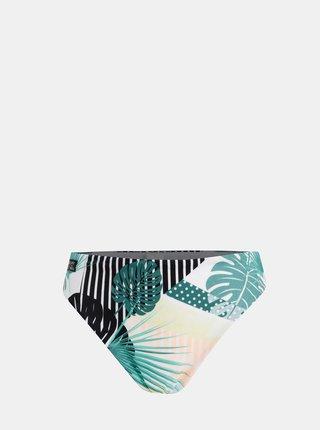 Biely vzorovaný spodný diel plaviek s vysokým pásom Roxy