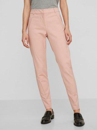 Ružové skrátené nohavice VERO MODA Victoria