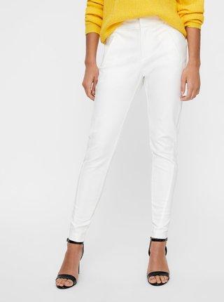 Biele skrátené nohavice VERO MODA Victoria