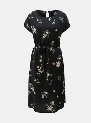 Rochie neagra florala Jacqueline de Yong Star